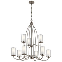 Kichler 44177CLP Lorin 9 Light 32 inch Classic Pewter Chandelier Ceiling Light, 2 Tier