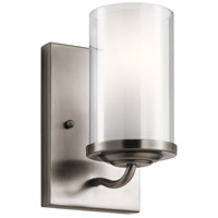 Kichler 44178CLP Lorin 1 Light 5 inch Classic Pewter Wall Bracket Wall Light