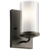 Kichler 44178OZ Lorin 1 Light 5 inch Olde Bronze Wall Bracket Wall Light