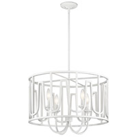 Kichler 44190WH Sutton 4 Light 22 inch White Chandelier Ceiling Light, Round