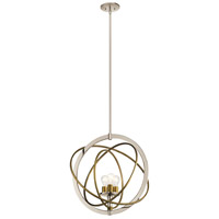 Ibis 3 Light 23 inch Polished Nickel Pendant Ceiling Light