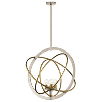 Kichler 44203PN Ibis 4 Light 30 inch Polished Nickel Pendant Ceiling Light