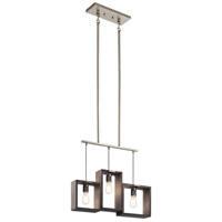 Kichler 44215CLP Industrial Frames 3 Light 5 inch Classic Pewter Chandelier Ceiling Light, Linear