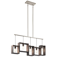 Kichler 44216CLP Industrial Frames 5 Light 5 inch Classic Pewter Chandelier Linear Ceiling Light, Single