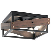Fulton Cross 4 Light 16 inch Black Flush Mount Light Ceiling Light