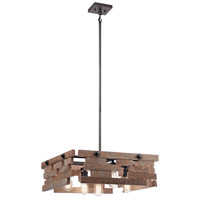 Cuyahoga Mill 5 Light 24 inch Anvil Iron Chandelier Ceiling Light, Rectangular