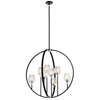 Kichler 44240BK Moyra 8 Light 36 inch Black Chandelier Ceiling Light, Large