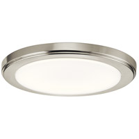 Kichler 44246NILED40 Zeo LED 10 inch Brushed Nickel Flush Mount Light Ceiling Light in 4000K
