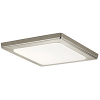 Kichler 44247NILED40 Zeo LED 10 inch Brushed Nickel Flush Mount Light Ceiling Light in 4000K