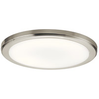 Kichler 44248NILED30 Zeo LED 13 inch Brushed Nickel Flush Mount Light Ceiling Light in 3000K