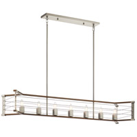 Kichler 44252NI Lente 7 Light 13 inch Brushed Nickel Chandelier Linear Ceiling Light Single