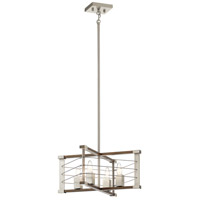 Kichler 44253NI Lente 4 Light 14 inch Brushed Nickel Pendant Ceiling Light