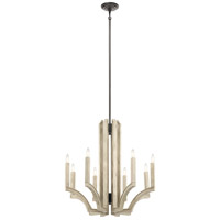 Kichler 44261AVI Botanica 8 Light 30 inch Anvil Iron Chandelier Ceiling Light 1 Tier Large