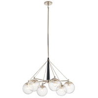 Kichler 44269PN Marilyn 6 Light 35 inch Polished Nickel Chandelier Ceiling Light, Medium