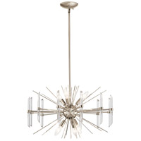 Kichler 44275PN Eris 6 Light 24 inch Polished Nickel Chandelier Round Pendant Ceiling Light