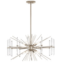 Kichler 44276PN Eris 8 Light 30 inch Polished Nickel Chandelier Ceiling Light Round