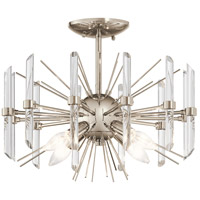Kichler 44277PN Eris 4 Light 16 inch Polished Nickel Semi Flush Light Ceiling Light