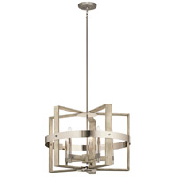 Kichler 44290WWW Peyton 5 Light 26 inch White Washed Wood Chandelier Ceiling Light, Medium