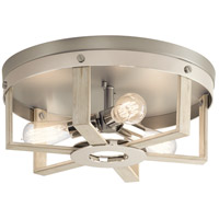 Kichler 44293WWW Peyton 3 Light 16 inch White Washed Wood Flush Mount Light Ceiling Light