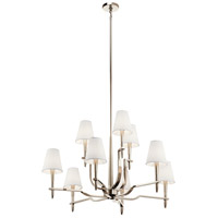 Kinsey 9 Light 39 inch Polished Nickel Chandelier Ceiling Light, Large