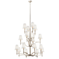 Kichler 44312PN Kinsey 16 Light 42 inch Polished Nickel Chandelier Ceiling Light