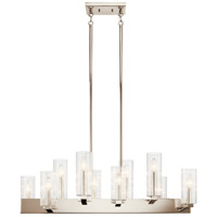 Kichler 44316PN Cleara 10 Light 16 inch Polished Nickel Chandelier Linear (Double) Ceiling Light alternative photo thumbnail