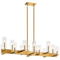 Kichler 44317FXG Cleara 14 Light 18 inch Fox Gold Chandelier Ceiling Light