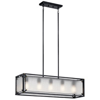 Kichler 44333DBK Steel 5 Light 11 inch Distressed Black Chandelier Ceiling Light