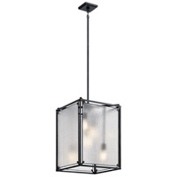 Black Steel Foyer Pendants