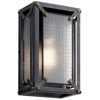 Kichler 44337DBK Steel 1 Light 8 inch Distressed Black Wall Sconce Wall Light