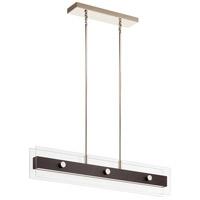 Kichler 44344WNWLED Tig LED 5 inch Walnut Wood Chandelier Linear (Single) Ceiling Light