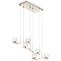 Kichler 44346PNLED Lasus LED 14 inch Polished Nickel Chandelier Ceiling Light