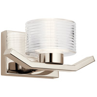 Kichler 44349PNLED Lasus LED 11 inch Polished Nickel Wall Sconce Wall Light