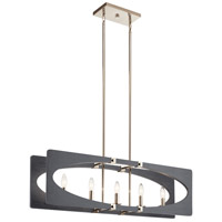 Kichler 44361DWG Alscar 5 Light 8 inch Driftwood Grey Chandelier Ceiling Light