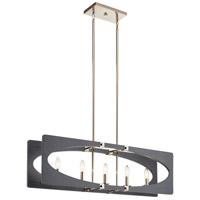 Kichler 44361DWG Alscar 5 Light 8 inch Driftwood Grey Chandelier Ceiling Light