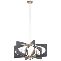 Kichler 44360DWG Alscar 6 Light 28 inch Driftwood Grey Chandelier Ceiling Light, Medium