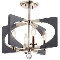 Kichler 44363DWG Alscar 4 Light 18 inch Driftwood Grey Semi Flush Light Ceiling Light