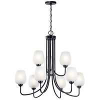 Kichler 44378BK Valserrano 9 Light 32 inch Black Chandelier Ceiling Light