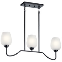 Kichler 44379BK Valserrano 3 Light 5 inch Black Chandelier Ceiling Light