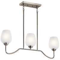 Kichler 44379NI Valserrano 3 Light 5 inch Brushed Nickel Chandelier Ceiling Light