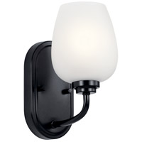 Kichler 44381BK Valserrano 1 Light 5 inch Black Wall Sconce Wall Light