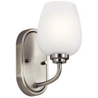 Kichler 44381NI Valserrano 1 Light 5 inch Brushed Nickel Wall Bracket Wall Light