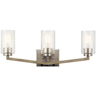 Kichler 45034DAG Deryn 3 Light 24 inch Distressed Antique Gray Bath Vanity Light Wall Light