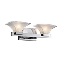 Kichler Lighting Tulare 2 Light Bath Vanity in Chrome 45037CH photo thumbnail