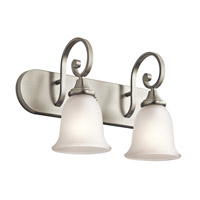 Monroe LED 18 inch Brushed Nickel Vanity Light Wall Light