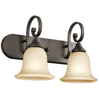 Kichler 45054OZ Monroe 2 Light 18 inch Olde Bronze Vanity Light Wall Light in Light Umber Etched Incandescent