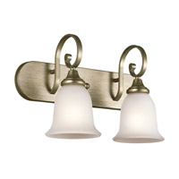 Monroe 2 Light 18 inch Sterling Gold Bath Vanity Wall Light