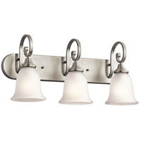 Monroe 3 Light 24 inch Brushed Nickel Bath Wall Wall Light
