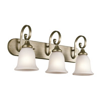 Monroe 3 Light 24 inch Sterling Gold Bath Vanity Wall Light