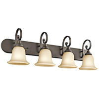 Monroe 4 Light 36 inch Olde Bronze Bath Vanity Wall Light